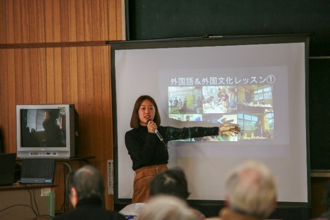 万年青大学(相浦地域講座)で地域活動について発表しました。